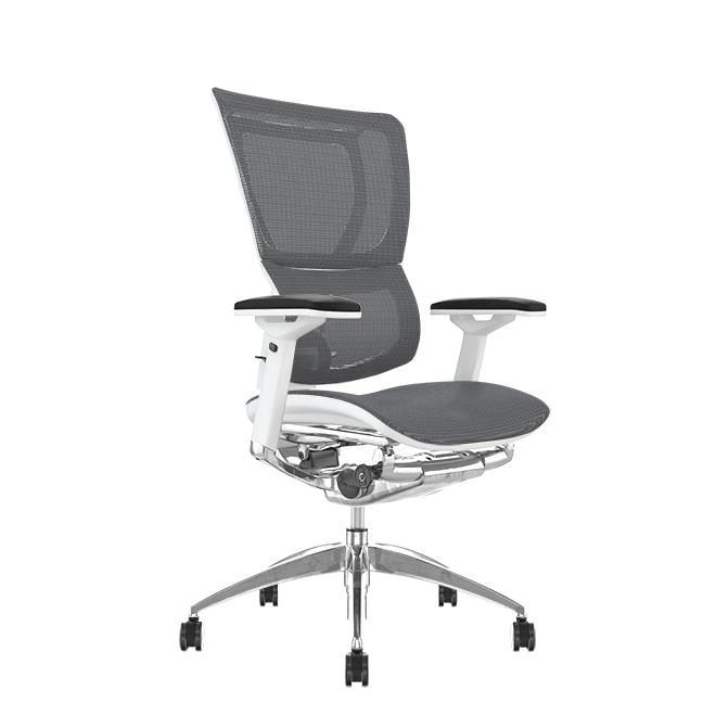 Mirus Grey Mesh, White Frame Office Chair