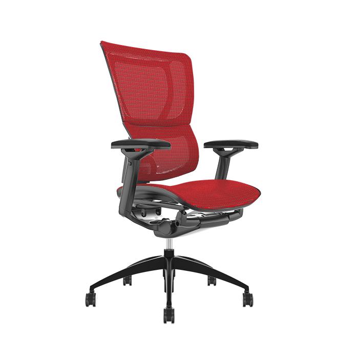 Mirus Red Mesh, Black Frame Office Chair