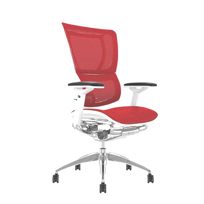 Mirus Red Mesh, White Frame Office Chair