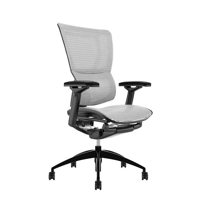 Mirus White Mesh, Black Frame Office Chair